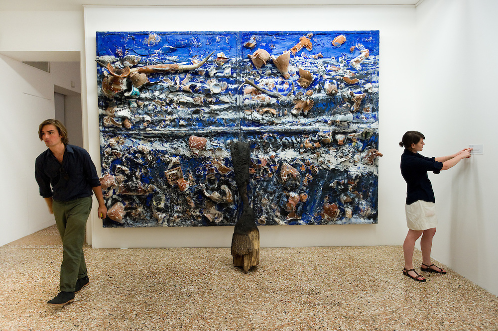 "Press preview of Julian Schnabel - ""Permanently Becoming And The Architecture Of Seeing"" part of 54th International Art Biennale in Venice"