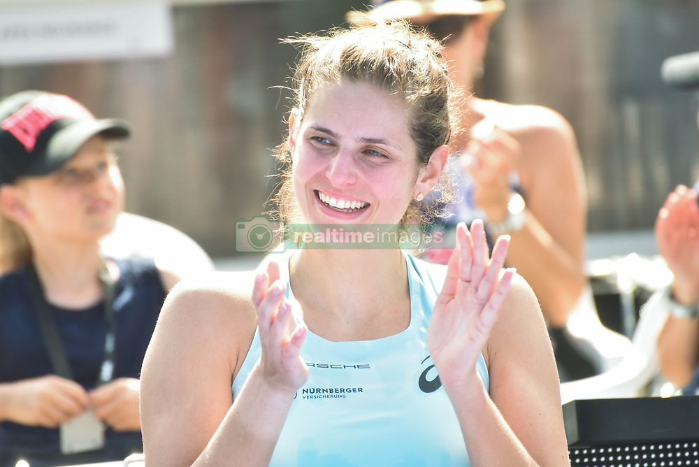 January 7, 2018 - Auckland, Auckland, New Zealand - Julia Goerges of German celebrates after wining her final match against Caroline Wozniacki of Denmark during the WTA Women's Tournament at ASB Centre Count in Auckland, New Zealand on Jan 7, 2018.  She wins the match, beating Caroline Wozniacki 6-4 7- (Credit Image: © Shirley Kwok/Pacific Press via ZUMA Wire)