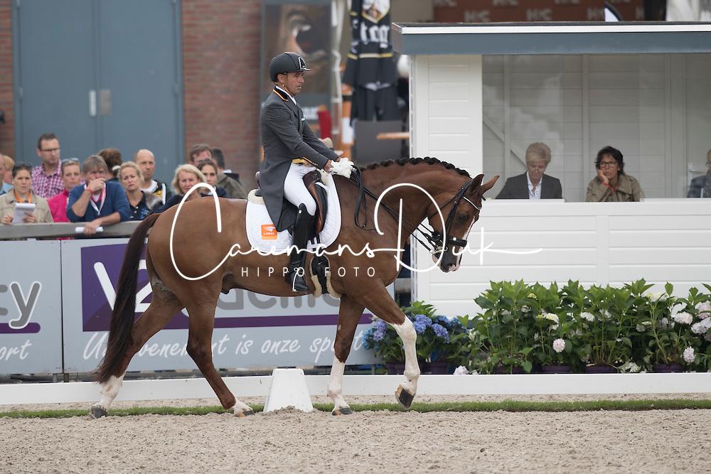 Elias Lara Agusti, ESP, Eddieni<br /> World Championship Young Dressage Horses <br /> Ermelo 2016<br /> &copy; Hippo Foto - Dirk Caremans<br /> 29/07/16