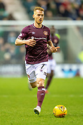 Oliver Bozanic (#7) of Heart of Midlothian during the Ladbrokes Scottish Premiership match between Hibernian FC and Heart of Midlothian FC at Easter Road Stadium, Edinburgh, Scotland on 29 December 2018.