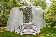 Dubuffet Guestroom titled Chambre a cocher sous les arbe, in the Garden of Arne and Milly Glimche, Georgica Close Rd, East Hampton, NY, Parrish Art Museum Landscape Pleasure 2017 garden tour