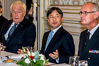 Le prince héritier Naruhito arrive à Lyon pour marquer le 160e anniversaire des relations diplomatiques entre le Japon et la France<br /> <br /> Le prince héritier Naruhito est arrivé vendredi à Lyon pour sa première visite officielle en France pour commémorer le 160e anniversaire des relations diplomatiques entre les deux pays.<br /> Au cours de ce voyage de neuf jours, il prévoit de rencontrer le président français Emmanuel Macron et d'assister à un événement culturel sur le thème du Japon. Il devrait être son dernier voyage à l'étranger en tant que prince héritier alors qu'il s'apprête à monter sur le trône après que l'empereur Akihito aura abdiqué le 30 avril prochain.<br /> <br /> Après avoir visité un musée du textile et d'autres lieux à Lyon, il se rendra à Paris où il rencontrera mercredi le château de Versailles.<br /> L'empereur Akihito et l'impératrice Michiko ont visité la France en tant qu'invité d'État en 1994.<br /> <br /> Un dîner était prévu en soirée à la préfecture du Rhône, en compagnie de Mr Collomb, ministre de l'intérieur ainsi que Mr Stephane Bouillon,prefet, Mr Georges Kepenekian le maire de Lyon.<br /> <br /> <br /> Crown Prince Naruhito arrives in Lyon to mark 160th anniversary of Japan-France diplomatic ties<br /> <br /> Crown Prince Naruhito arrived in Lyon on Friday for his first official visit to France to commemorate the 160th anniversary of diplomatic relations between the countries.<br /> During the nine-day trip, he plans to meet French President Emmanuel Macron and attend a Japan-themed cultural event. It is expected to be his last foreign trip as crown prince as he is set to ascend the throne after Emperor Akihito abdicates next April 30.<br /> <br /> After visiting a textile museum and other locations in Lyon, he will travel to Paris where he will meet Macron at the Palace of Versailles on Wednesday.<br /> <br /> A dinner was planned in the evening at the Rhone prefecture, in the company of Mr Collomb, Minister of the Interior a