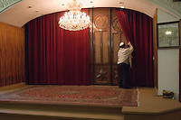Tehran, Iran. September 13, 2007- The Torah is kept secure behind the doors.