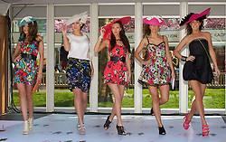LIVERPOOL, ENGLAND - Thursday, April 8, 2010: Models during the Style 2010 fashion show during the opening day of the Grand National Festival at Aintree Racecourse. (Pic by David Rawcliffe/Propaganda)