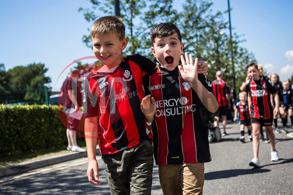 AFC Bournemouth fans - Mandatory by-line: Jason Brown/JMP - Mobile 07966 386802 08/08/2015 - FOOTBALL - Bournemouth, Vitality Stadium - AFC Bournemouth v Aston Villa - Barclays Premier League - Season opener