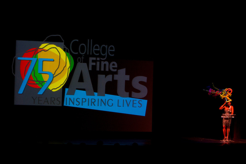 The College of Fine Art celebrate their 75 years with a special event held with music, dance, and thearte.