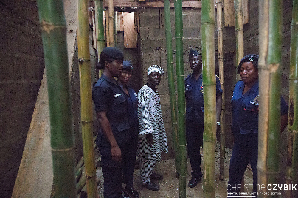 King Cephas Bansah, Queen Gabriele Bansah visit the prison in Hohoe, Ghana on September 6th, 2016.<br /> <br /> They are currently funding the building of a prison building for women. Right now, women and men are held in the same cells. For the nights, guards have to remove the women for their own protection against violence and rape and restrain them somewhere outside.<br /> <br /> ***Togbe Ngoryifia Cephas Kosi Bansah of Gbi Traditional Area Hohoe Ghana and Traditional, Spiritual and Honorable King of the Ewes and his wife, Queen Mother Gabriele Akosua Bansah Ahado Hohoe Ghana***