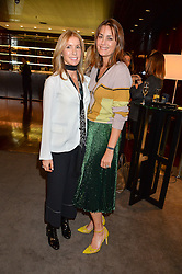 Left to right, VICTORIA MILLIGAN who lost her husband, daughter and a leg in a speedboat accident and YASMIN LE BON at a ladies lunch in aid of the charity Child Bereavement UK held at The Bulgari Hotel, 171 Knightsbridge, London on 25th February 2016.