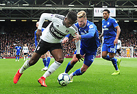 Football - 2018 / 2019 Premier League - Fulham vs. Cardiff City<br /> <br /> Joe Bennett of Cardiff and Ryan Sessegnon of Fulham, at Craven Cottage.<br /> <br /> COLORSPORT/ANDREW COWIE