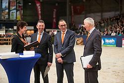 Rutten Bert, Van Woudenbergh Reijer, Versteeg Wim, Dorresteijn Marian<br /> KWPN Hengstenkeuring 2017<br /> © Dirk Caremans<br /> 04/02/17