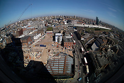 UK ENGLAND LONDON 21APR15 - View of the foundations of the Principal Tower project and the London skline from 201 Bishopsgate, Liverpool Street, City of London.<br /> <br /> <br /> <br /> jre/Photo by Jiri Rezac<br /> <br /> <br /> <br /> © Jiri Rezac 2015