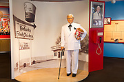 A tribute to Colonel Harland David Sanders founder of KFC Kentucky Fried Chicken Louisville Kentucky KY, USA