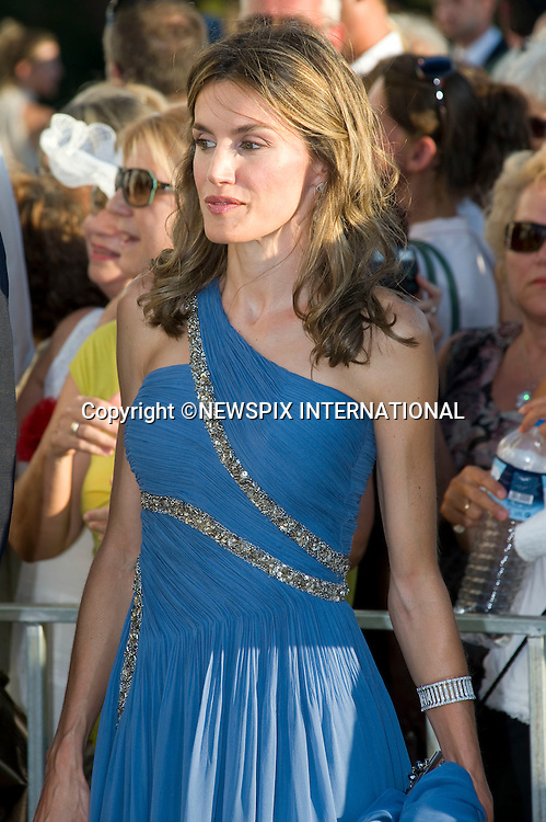 "Princess Letizia of Asturias_.The Wedding of Prince Nikolaos and Tatiana Blatnik attended by many members of European Royalty at St Nikolaos Church on the Island of Spetses_Grecce_24/08/2010.Mandatory Credit Photo: ©DIAS-NEWSPIX INTERNATIONAL..**ALL FEES PAYABLE TO: ""NEWSPIX INTERNATIONAL""**..IMMEDIATE CONFIRMATION OF USAGE REQUIRED:.Newspix International, 31 Chinnery Hill, Bishop's Stortford, ENGLAND CM23 3PS.Tel:+441279 324672  ; Fax: +441279656877.Mobile:  07775681153.e-mail: info@newspixinternational.co.uk"