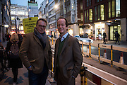 BEN ELWES; GRAHAM SOUTHERN, A Celebration in Honour of Bill Viola, Blain Southern, Hanover Sq. London. 12 October 2015