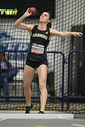 Windsor, Ontario ---2015-03-12--- Chantelle Robbertse of  Dalhousie competes in the heptathlon shot put at the 2015 CIS Track and Field Championships in Windsor, Ontario, March 15, 2015.<br /> GEOFF ROBINS/ Mundo Sport Images