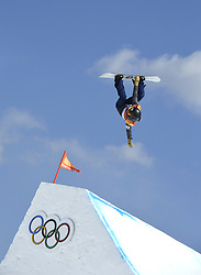February 12, 2018 - Pyeongchang, South Korea - Silje Norendal of Norway takes a jump during the Womens Snowboard Slopestyle finals at Phoenix Snow Park at the Pyeongchang Winter Olympic Games.  Norendal placed fourth. Photo by Mark Reis, ZUMA Press/The Gazette (Credit Image: © Mark Reis via ZUMA Wire)
