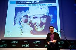 Petra Majdic as best brand and Sasa Jerkovic during Sporto  2010 Gala Dinner and Awards ceremony at Sports marketing and sponsorship conference, on November 29, 2010 in Hotel Slovenija, Portoroz/Portorose, Slovenia. (Photo By Vid Ponikvar / Sportida.com)