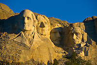 Faces of George Washington, Thomas Jefferson, Theodore Roosevelt and Abraham Lincoln, Mount Rushmore National Memorial, Black Hills, South Dakota USA