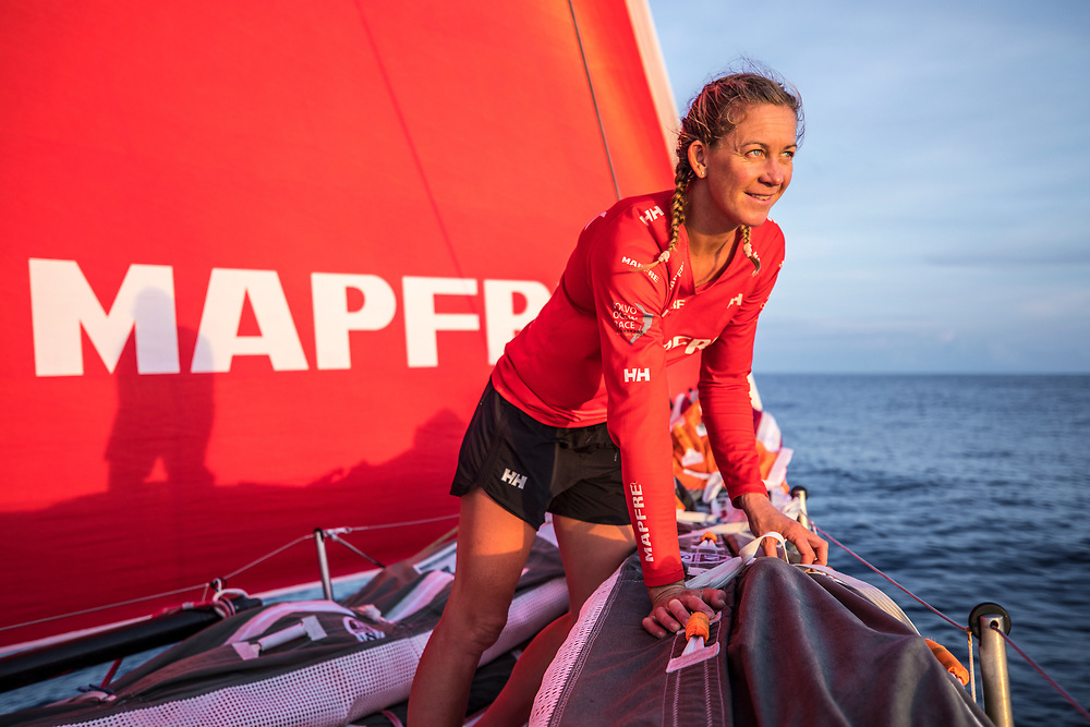 Leg 6 to Auckland, day 13 on board MAPFRE. 19 February, 2018.