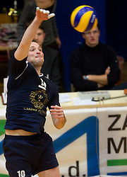 Luka Slabe of Kropa during volleyball match between ACH Volley and UKO Kropa at Finals of Slovenian Cup 2010, on December 21, 2010 in Dvorana OS, Nova Gorica, Slovenia. ACH Volley defeated Kropa 3-0 and become Slovenian Cup Champion. (Photo By Vid Ponikvar / Sportida.com)