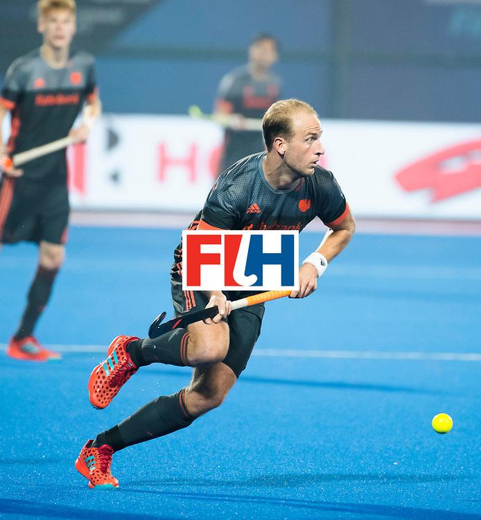 BHUBANESWAR - Billy Bakker (Ned) tijdens de Hockey World League Final wedstrijd Belgie-Nederland (3-0).   COPYRIGHT KOEN SUYK