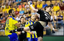 Luka Mitrovic of Gorenje during handball match between RK Celje Pivovarna Lasko and RK Gorenje Velenje in Last Round of 1. Liga NLB 2016/17, on June 2, 2017 in Arena Zlatorog, Celje, Slovenia. Photo by Vid Ponikvar / Sportida