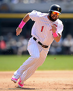 CHICAGO - MAY 08:  Adam Eaton #1 of the Chicago White Sox runs the bases against against the Minnesota Twins on May 8, 2016 at U.S. Cellular Field in Chicago, Illinois.  The White Sox defeated the Twins 3-1.  (Photo by Ron Vesely)   Subject: Adam Eaton
