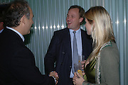 Charles Finch, the Marquis and Marchioness of Milford Haven. Launch dinner for Island Beauty by India Hicks hosted by Charles Finch and Harvey Nichols Fifth Floor Restaurant. London. .  14  November 2005 . ONE TIME USE ONLY - DO NOT ARCHIVE © Copyright Photograph by Dafydd Jones 66 Stockwell Park Rd. London SW9 0DA Tel 020 7733 0108 www.dafjones.com