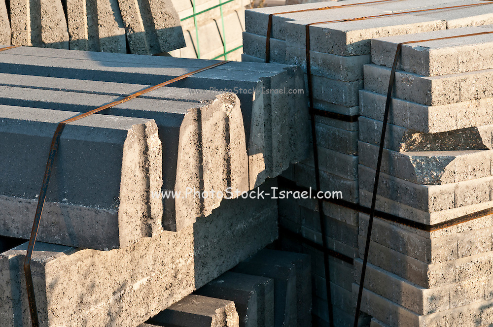 A pile of prefabricated building material