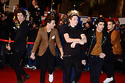 26.JANUARY.2013. CANNES<br /> <br /> HARRY STYLES, LOUIS TOMLINSON, NIALL HORAN, ZAYN MALIK AND LIAM PAYNE OF ONE DIRECTION ATTEND THE 2013 NRJ MUSIC AWARDS CEREMONY HELD AT THE PALAIS DES FESTIVALS IN CANNES, FRANCE.    <br /> <br /> BYLINE: EDBIMAGEARCHIVE.CO.UK<br /> <br /> *THIS IMAGE IS STRICTLY FOR UK NEWSPAPERS AND MAGAZINES ONLY*<br /> *FOR WORLD WIDE SALES AND WEB USE PLEASE CONTACT EDBIMAGEARCHIVE - 0208 954 5968*