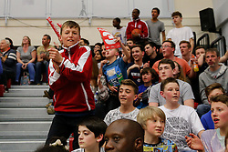 Bristol Flyers supporters - Photo mandatory by-line: Rogan Thomson/JMP - 07966 386802 - 07/03/2015 - SPORT - BASKETBALL - Bristol, England - SGS Wise Arena - Bristol Flyers v Sheffield Sharks - BBL Championship.