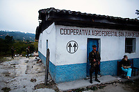 Members of the military stand guard of a small building that houses the ballots that will be used in the general elections that will take place the next morning, Ojojona, Honduras Saturday, Nov. 28, 2009. After months of turmoil following the Coup of former President Manuel Zelaya Honduras prepares its self for the general elections that are scheduled for Nov. 29.   Darren Hauck For The New York Times