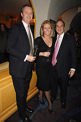 Left to right, RUPERT PHELPS, KATE NEWTON and VISCOUNT CRICHTON at a party to launch Crosley Diamonds at Annabels, Berkeley Square, London on 15th November 2007.<br />
