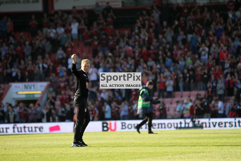 Bournemouth Manager Eddie Howe at the end of the game between Bournemouth vs Sunderland on Saturday 19th September 2015.