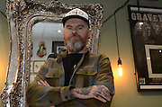 Picture shows tattoo artist Tony Evans of Opulent Ink in Wolverhampton.<br /> <br /> 17/11/2016<br /> <br /> Credit should read: Picture by Mark Larner<br /> NO UNAUTHORISED USAGE