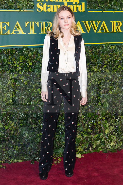 © Licensed to London News Pictures. 03/12/2017. London, UK.IMMY WATERHOUSE attends the London Evening Standard Theatre Awards 2017 held at the Theatre Royal, Dury Lane. Photo credit: Ray Tang/LNP