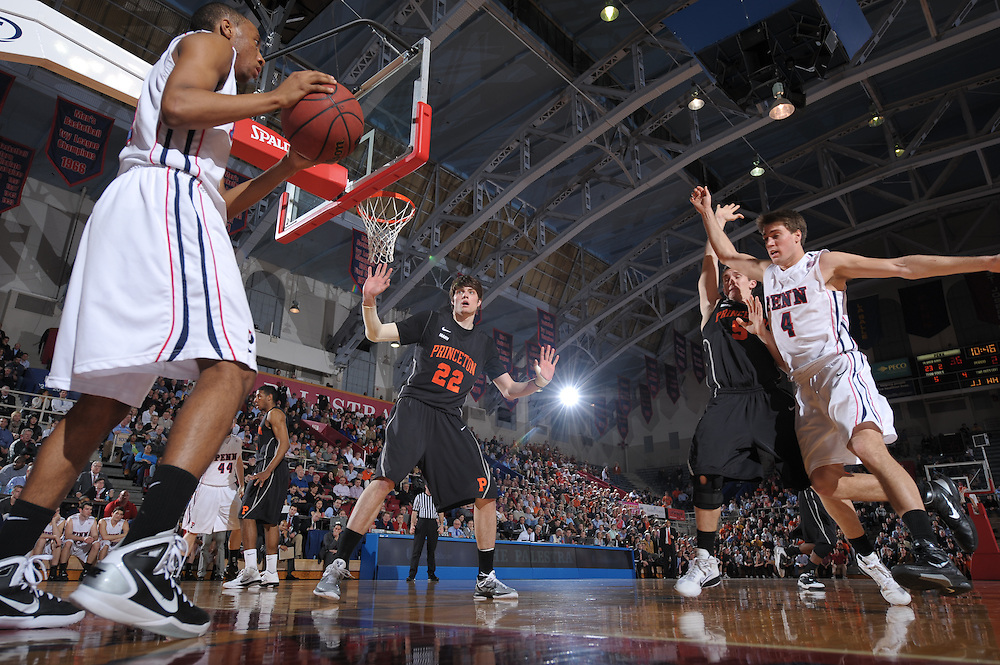 PHILADELPHIA, PA - MARCH 8:  of the Penn Quakers during the game against Princeton at the Palestra on March 8, 2011 in Philadelphia, Pennsylvania. (Photo by Drew Hallowell)  *** Local Caption ***