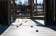 Easter eggs dot the Monona Youth Dream Park before the 21st Annual Easter Egg Hunt at Winnequah Park in Monona, WI on Saturday, April 20, 2019.