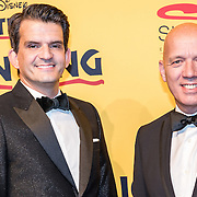 NLD/Scheveningen/20161030 - Premiere musical The Lion King, Maurice Wijnen en partner Ronald den Ouden