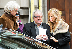 © London News Pictures. FILE PIC DATED 05/03/2016. London, UK.  BOB GELDOF, BILL WYMAN and his wife SUZANNE WYMAN  attend a ceremony to mark the wedding of Rupert Murdoch and Jerry Hall at St Brides Church in London on February 05, 2016. Former Rolling Stone Bill Wyman has been diagnosed with prostate cancer at the aged of 79. Photo credit: Ben Cawthra