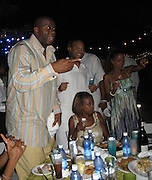 **EXCLUSIVE**.Magic Johnson, Star Jones & Holly Robinson-Peete.The Cain on The Cove Hotel Opening.Paradise Island, Bahamas.Friday, May 11, 2007 .Photo By Celebrityvibe.To license this image please call (212) 410 5354; or.Email: celebrityvibe@gmail.com ;