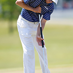 Apr 26, 2012; Avondale, LA, USA; Nick O'Hern putts on the 18th hole during the first round of the Zurich Classic of New Orleans at TPC Louisiana. Mandatory Credit: Derick E. Hingle-US PRESSWIRE