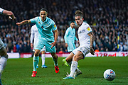 Queens Park Rangers midfielder Marc Pugh (7) and Leeds United midfielder Kalvin Phillips (23) during the EFL Sky Bet Championship match between Leeds United and Queens Park Rangers at Elland Road, Leeds, England on 2 November 2019.