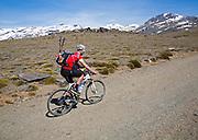 Cycling in Sierra Nevada Mountains, High Alpujarras, Granada Province, Spain
