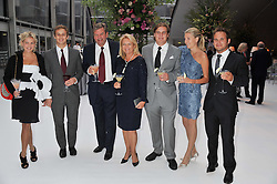 Left to right, HANNELI RUPERT, FRANCESCO CIARDI, MR & MRS JOHAN RUPERT, ANTON RUPERT, CAROLINE RUPERT and SHAUN DAVY at a dinner hosted by Cartier following the following the opening of the Chelsea Flower Show 2012 held at Battersea Power Station, London on 21st May 2012.