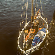 "My Klepper folding kayak fitted perfectly on the extra large deck for a small 28 ft sailboat. We also had a small dinghy called ""Teacup"" that fitted alongside my kayak on top of the forward hatch. They did get in the way when we were sailing but we didn't use the sails very often."