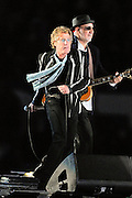 Miami, FL, --  Pete Townsend and Roger Daltery of The Who performs at half time of the New Orleans Saints 31-17 win over the Indianapolis Colts in Super Bowl XLIV at Sun Life Stadium on Feb 7, 2010...©2010 Scott A. Miller