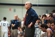 Brattleboro head coach Joe Rivers watches the action on the court during the boys basketball game between Brattleboro and Burlington at Burlington High School on Saturday afternoon December 19, 2015 in Burlington. (BRIAN JENKINS/for the FREE PRESS)