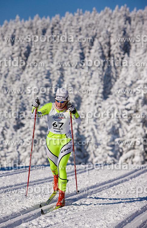 Anja Erzen (SLO) at Ladies 15 km Classic Mass Start Competition of Viessmann Cross Country FIS World Cup Rogla 2009, on December 20, 2009, in Rogla, Slovenia. (Photo by Vid Ponikvar / Sportida)