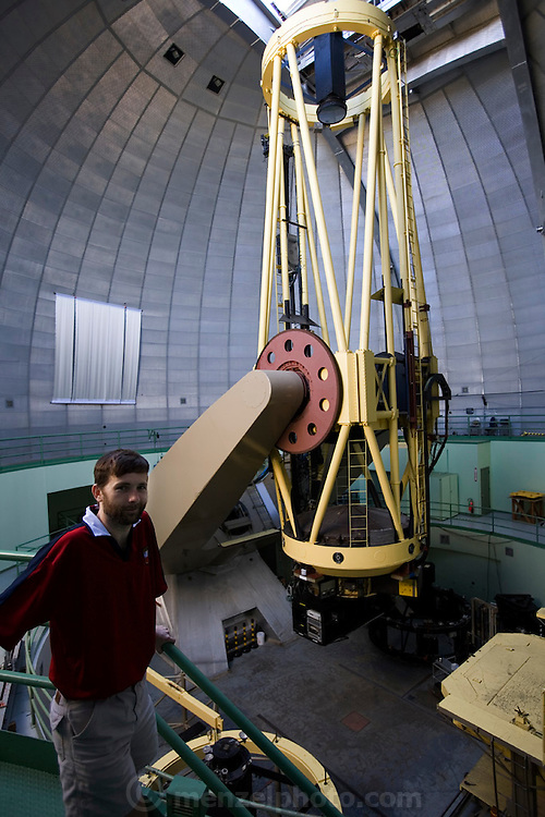 Lick Observatory on Mt. Hamilton. San Jose, California. 120-inch telescope. Chris McCarthy, astronomer.  Exoplanets & Planet Hunters